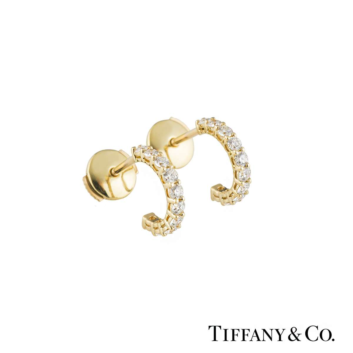 Tiffany Diamond Hoop Earrings